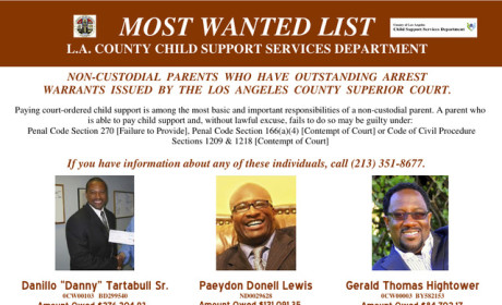 "Danny Tartabull Targeted as L.A.'s ""Most Wanted"" Deadbeat Dad"