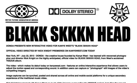"""Kanye West """"Black Skinhead"""" Video: Officially Unveiled!"""