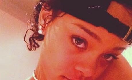 Rihanna Topless, Short Hair