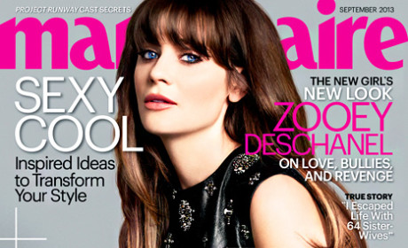 Zooey Deschanel in Marie Claire: I'm Intelligent! Stop Online Bullying!