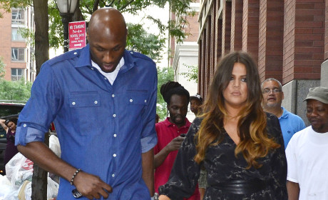 Lamar and Khloe, Looking Sad
