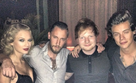Taylor Swift Poses with Harry Styles at Post-VMA Party