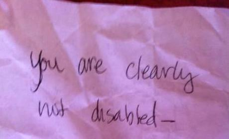 Anonymous Note on Car Window Shames Mom For Using Handicapped Spot, Response Goes Viral
