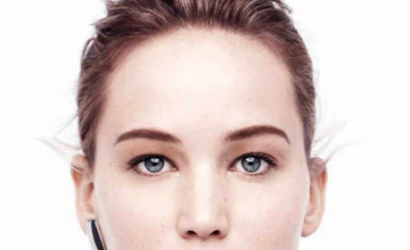 Jennifer Lawrence: Makeup-Free in Dior Ads