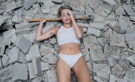 Miley Cyrus with a Sledgehammer