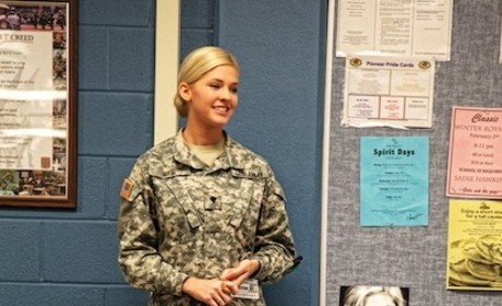 Theresa Vail in Uniform