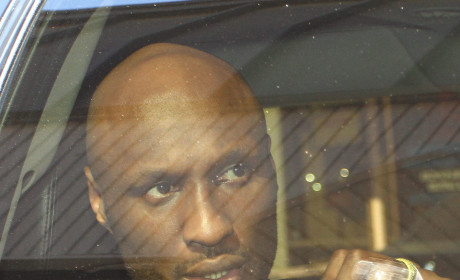 Lamar Odom in Backseat