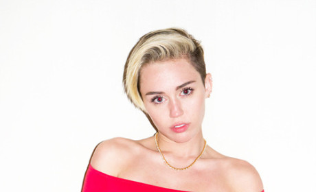 Miley Cyrus with a Landing Strip