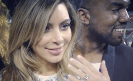Kim Kardashian Engagement Ring: First Look!