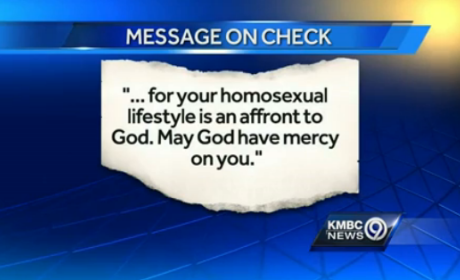 Customers Stiff Waiter, Leave Anti-Gay Message on Check