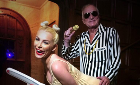 Hugh Hefner and Crystal Harris: Miley Cyrus and Robin Thicke for Halloween!