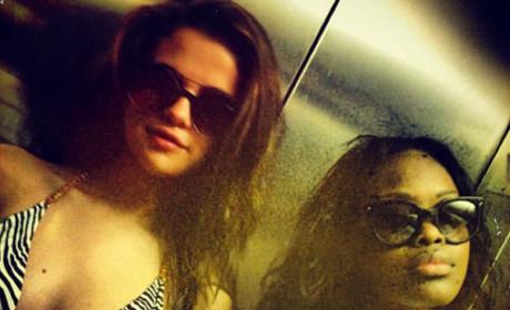 Selena Gomez in a Bikini Top