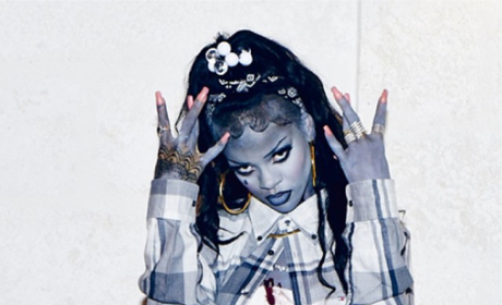 Rihanna: Topless Gangsta Zombie For Halloween (or Just 'Cause it's Thursday)!