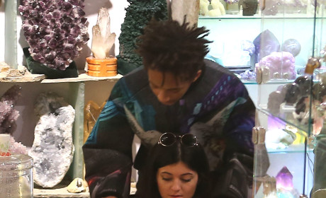 Kylie Jenner with Jaden Smith