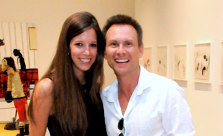 Christian Slater and Brittany Lopez