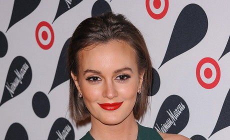 Leighton Meester in Green