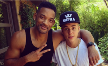 "Justin Bieber and ""Uncle"" Will Smith: Most Liked Instagram Pic of the Year!"