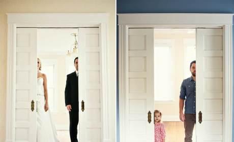 Dad Recreates Wedding Photos with Daughter