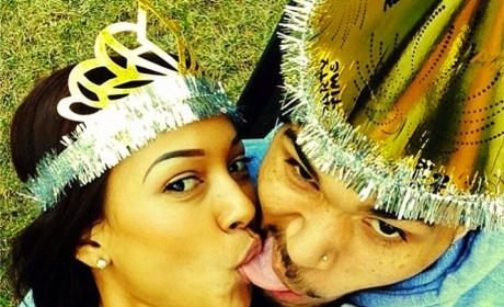 Karrueche Tran, Chris Brown Selfie