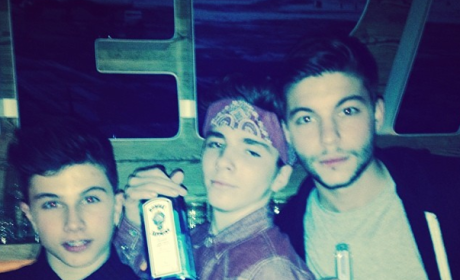What do you think of Madonna posing a picture of her 13-year old son with a liquor bottle?