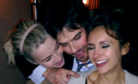 Nina Dobrev Celebrates Birthday with Julianne Hough... and Ian Somerhalder!