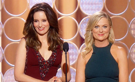 Tina Fey and Amy Poehler as Hosts