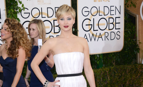 Jennifer Lawrence at 201 Golden Globes