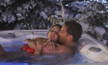 Juan Pablo in the Hot Tub