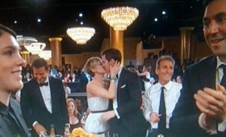 Nicholas Hoult Kisses Jennifer Lawrence