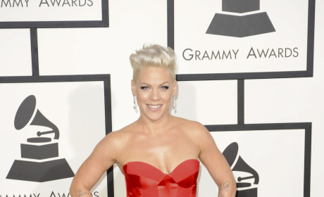 Pink at the 2014 Grammys