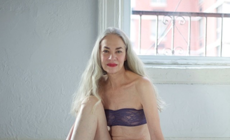 62-Year Old Poses for Lingerie Ad: Hot or Really, Really Not?
