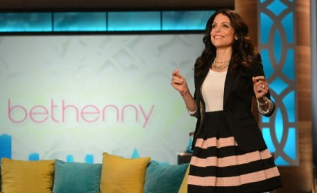 Bethenny Frankel on Talk Show Set