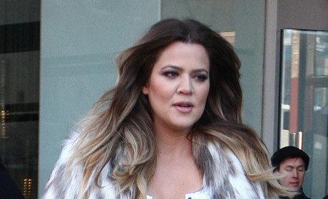 Khloe Kardashian Wears Fake Fur