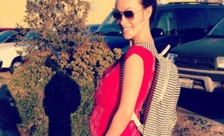 Olivia Wilde Posts Baby Bump Pic, Remarks: Holy F-ck!
