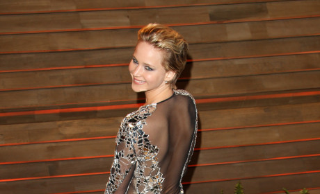 Jennifer Lawrence Goes Sheer
