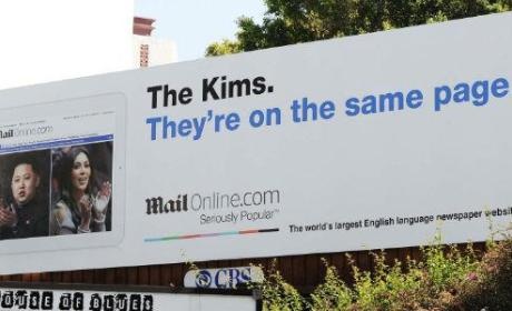 Hilarious Billboard Kompares Kim Kardashian with Kim Jong-Un