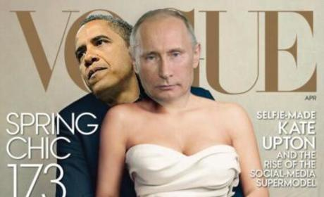 Barack Obama and Vladimir Putin Vogue Cover