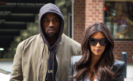 Kim Kardashian and Kanye West Go Dark