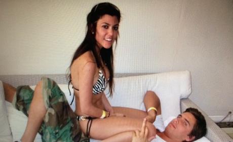 Kourtney Kardashian Straddles Scott Disick, Is Crazy in Love