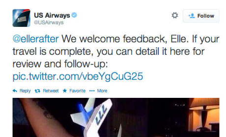 US Airways Tweet