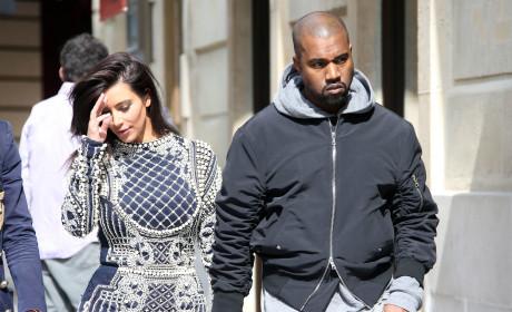 Kanye and Kim in Paris