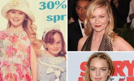 Kirsten Dunst and Lindsay Lohan as Kids