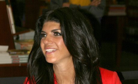 Teresa Giudice with Her Book