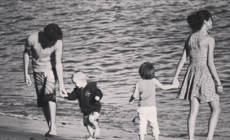 Justin Bieber Throws It Back, Posts Beach Photo with Selena Gomez