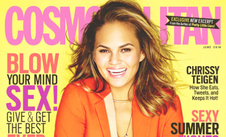 Chrissy Teigen Cosmopolitan Covers, Mile High Club Membership Revealed!