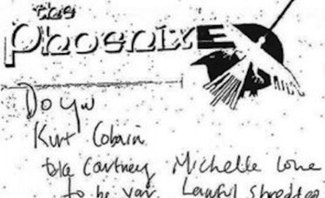 "Kurt Cobain Suicide Note BLASTS Courtney Love; Accuses ""B!tch With Zits"" of Stealing His Money"