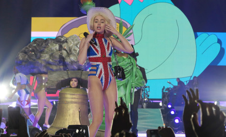 Miley Cyrus Goes British