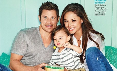 "Nick and Vanessa Lachey Pose with Toddler, Talk ""Alone Time'"