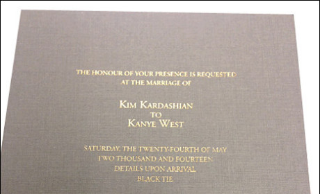 Kim Kardashian Wedding Invitation: Unveiled!