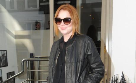 Lindsay Lohan Leather Jacket Photo